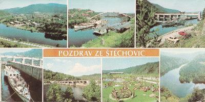 Štěchovice - Povltaví - Slapy - koupaliště - 21 x 10,5 cm