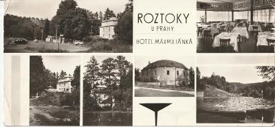 Roztoky u Prahy - hotel Maxmiliánka - 22 x 10,5 cm