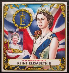 Niger 2016 Královna Alžběta II. Mi# Block 507 Kat 14€ 2520