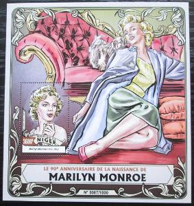 Niger 2016 Marilyn Monroe Mi# Block 507 Kat 14€ 2520
