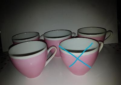 Porcelánové hrníčky, bez talířků 4 kusy