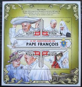 Niger 2016 Papež František Mi# 4037-40 Kat 14€ 2520