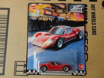 Hot Wheels 69 Alfa Romeo Stradale.Rozbalený.Krabička je otevřena.