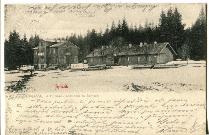 Špičák, hotel, Železná Ruda, Klatovy, Šumava - Pohlednice