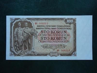 100 Korun 1953 Serie BV  Neperforovana UNC