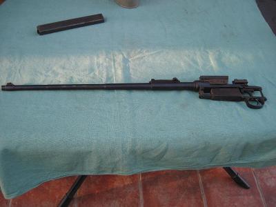 Montáž na puškohled s torzem  Mauser98k.Nefunkční.