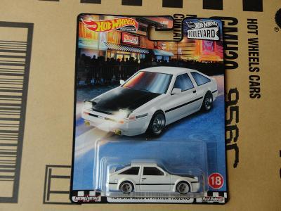 Hot Wheels Toyota AE86 Sprinter Trueno.Rozbalený.Krabička je otevřena.
