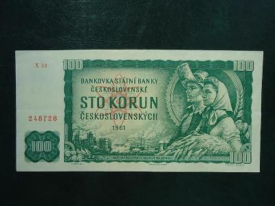 100 Korun 1961 Serie X 18 Neperforovana Hezka