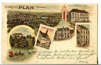 Planá, Mariánské Lázně, Tachov, pivovar, litografie