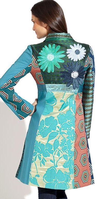 DESIGUAL CHAQ_MODENA  luxusní dámský PODZIMNÍ kabátek/VEL:42