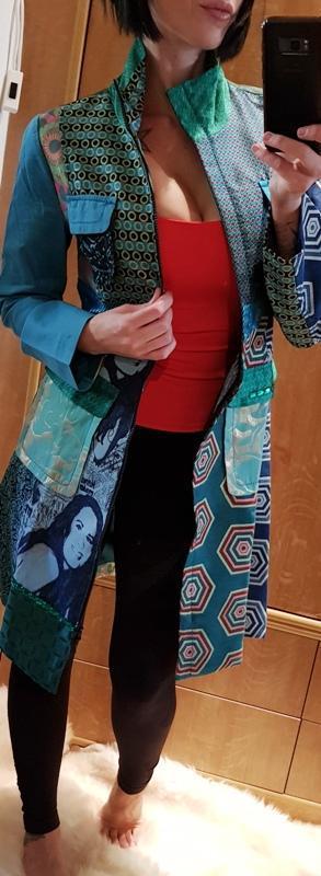 DESIGUAL CHAQ_MODENA  luxusní dámský PODZIMNÍ kabátek/VEL:38(36_38)1,-