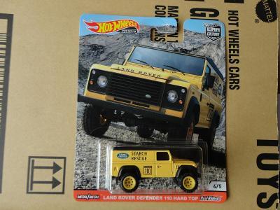 Hot Wheels Land Rover Defender 110.Rozbalený.Krabička je otevřena.
