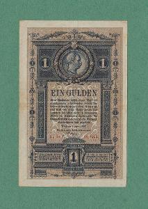 RAKOUSKO  - UHERSKO  -  1 gulden, 1882  -  stav +2