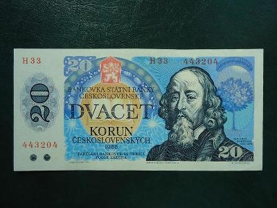 20 korun 1988  Serie H 33 Neperforovana Luxusni Stav