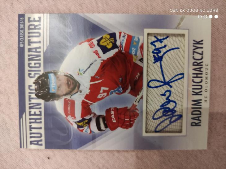 Radim Kucharczyk OFS 2015/16 Authentic Signature x/39 HC Olomouc - Sportovní sbírky