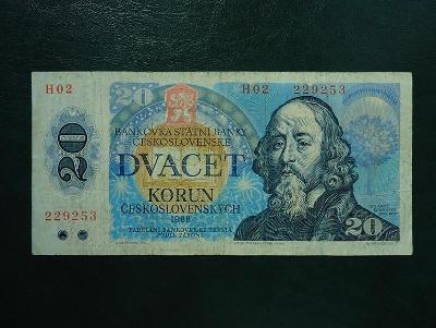 20 korun 1988  Serie H 02 Neperforovana