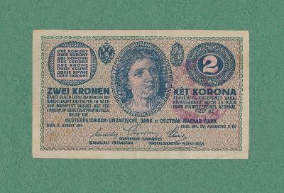 RAKOUSKO- UHERSKO - 2 koruny, 1914, serie C - NEPLATNÉ - platila v ČSR