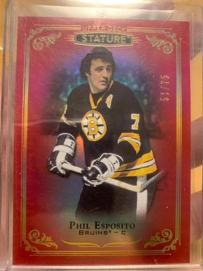 2019-20 Stature Phil Esposito red /75 - Sportovní sbírky