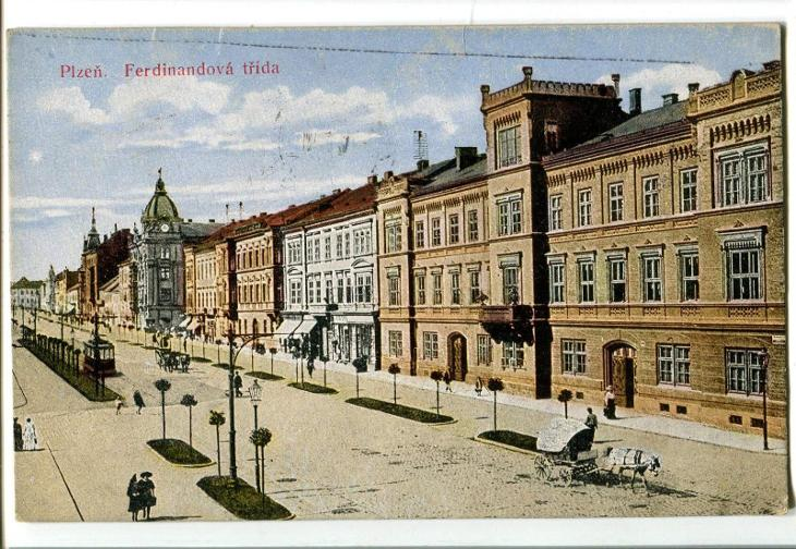 Plzeň, tramvaj - Pohlednice