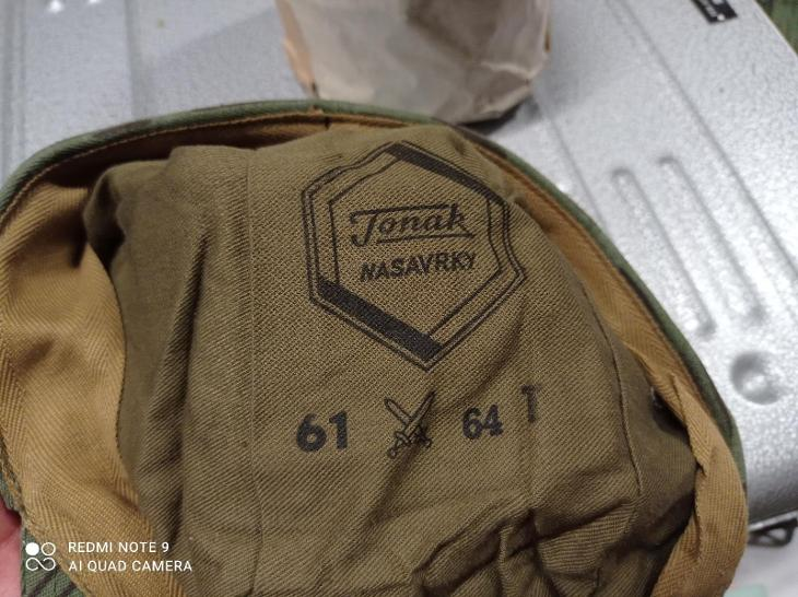 č.337 Čepice vz.60 jehličí velikost 61 rok 1964 - Vojenské