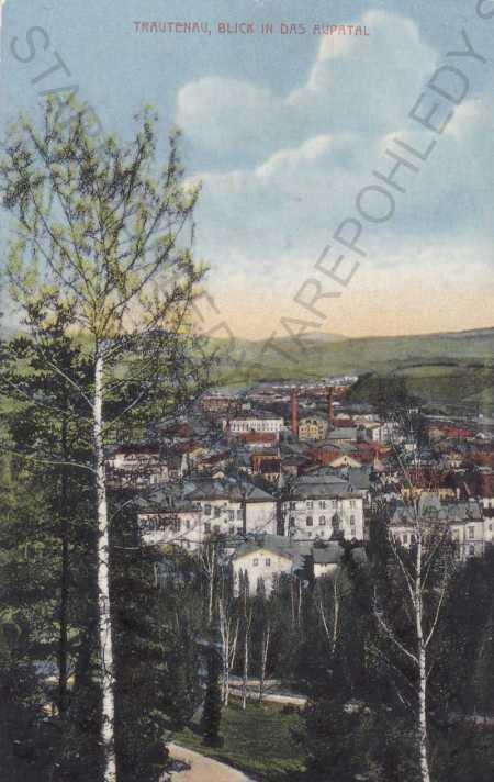 Trutnov, pohled na město z výšky - Pohlednice