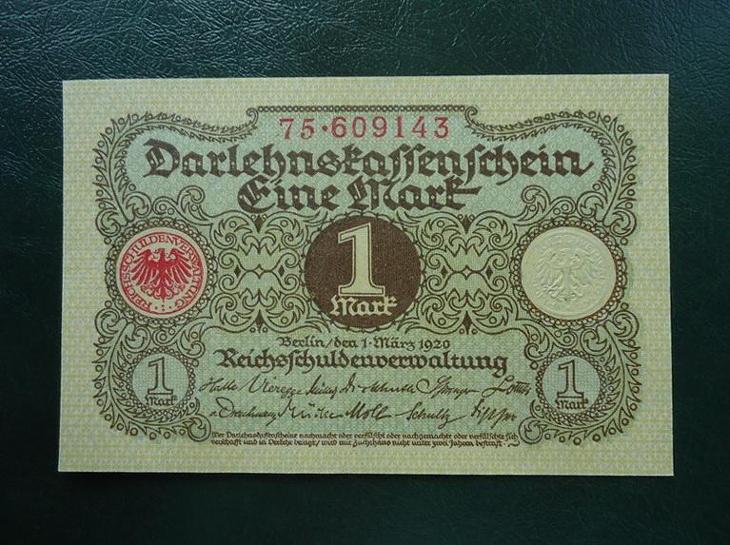 1 Mark 1920 UNC - Bankovky