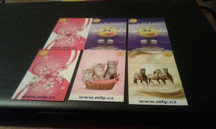 Prodám kartickove kalendáře mfp ditipo  - Ostatní