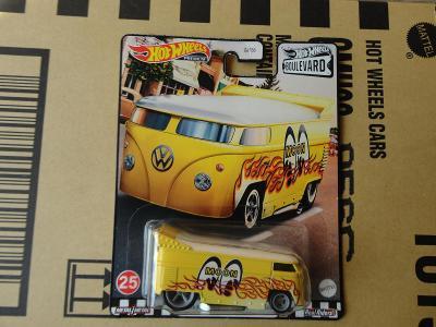 Hot Wheels Volkswagen Drag Bus.Rozbalený.Krabička je otevřena.