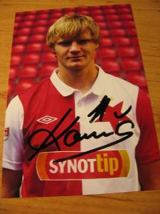 Štěpán Koreš - Slavia Praha - orig. autogram