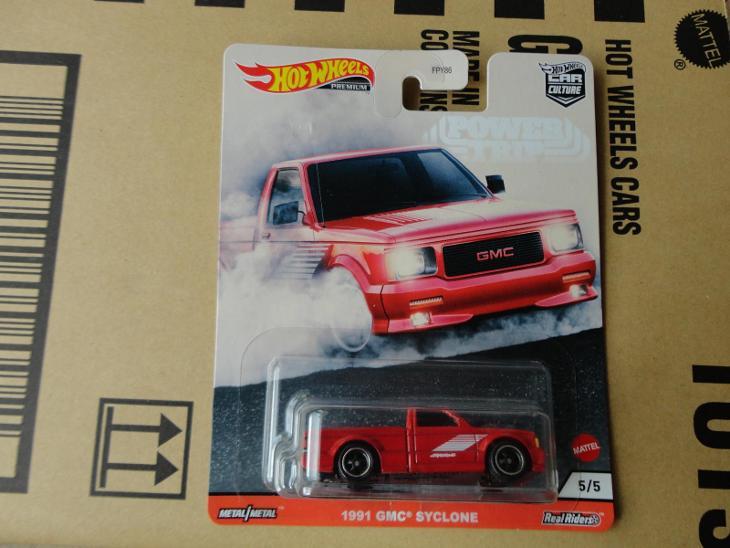 Hot Wheels 1991 GMC Syclone.Rozbalený.Krabička je otevřena. - Modelářství