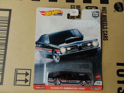 Hot Wheels Plymouth Barracuda Hemi.Rozbalený.Krabička je otevřena.