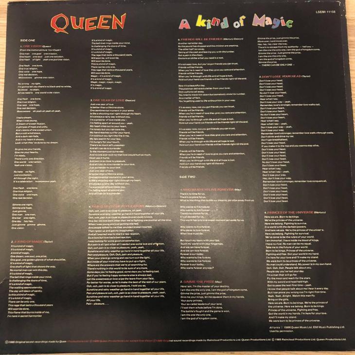 Queen – A Kind Of Magic (SKVĚLÝ STAV) emi - Hudba