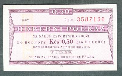 TUZEX 0,5hal 5/1968 stav 0