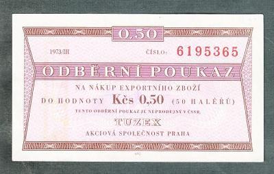 TUZEX 0,5hal 3/1973 stav 1