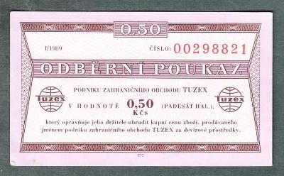 TUZEX 0,5hal 1/1989 stav 1