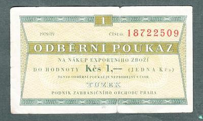 TUZEX 1 kčs 4/1979