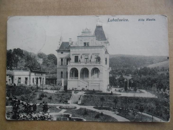 Lázně Luhačovice Zlín villa Vlasta - Pohlednice