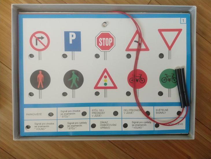 Voltík - Dopravní značky - elektrická výuková hračka - Hračky