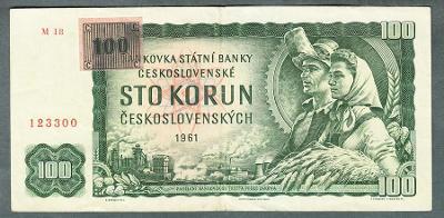 100 kčs 1961 KOLEK serie M18 !!!