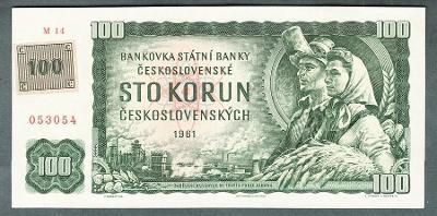 100 kčs 1961 KOLEK serie M14 !!! stav 1+