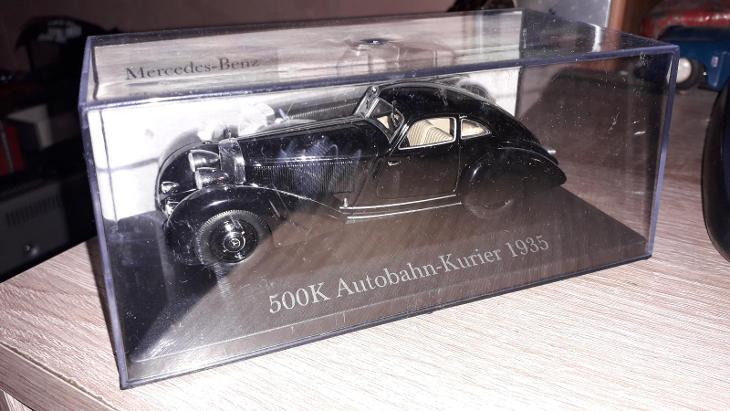 Mercedes-Benz 500K Autobahn Kurier - DeAgostini TOP stav 1:43 nový  - Modelářství