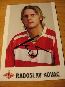 Radoslav Kováč - Spartak Moskva - orig. autogram