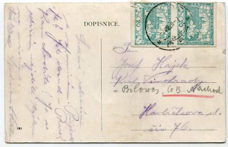 Lázně Běloves - hřiště-tenisové kurty / kolonáda, cca r. 1907, Náchod - Pohlednice