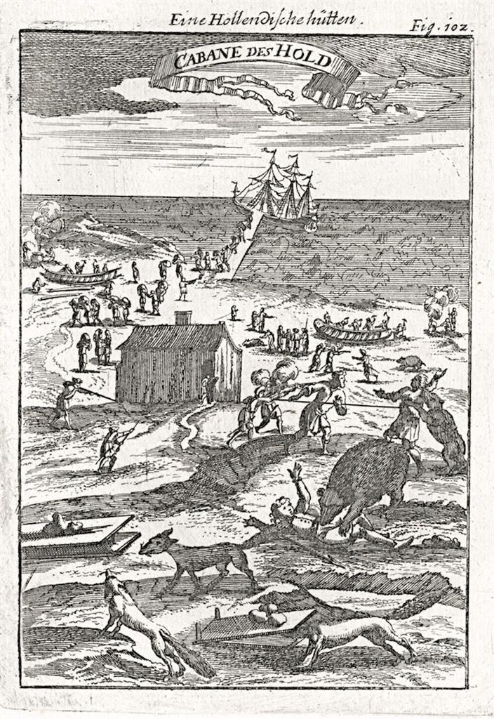 Novaja Zemlja, Mallet, mědiryt, 1719 - Antikvariát