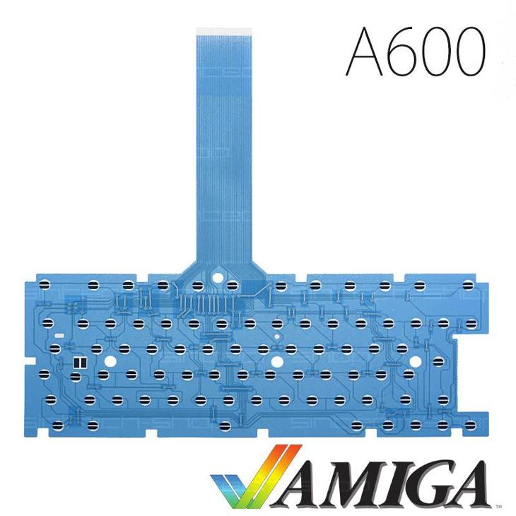 Amiga 600 membrána klávesnice - modrá - Historické počítače
