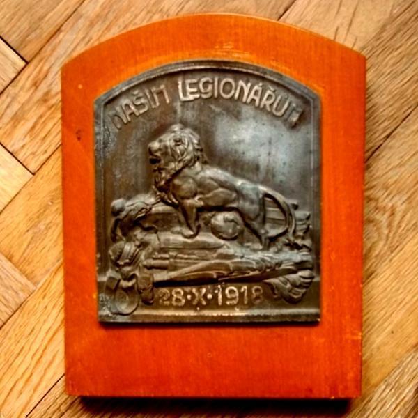 Našim Legionářům 1918 Velká plaketa První Republika 260x 220 mm - Faleristika