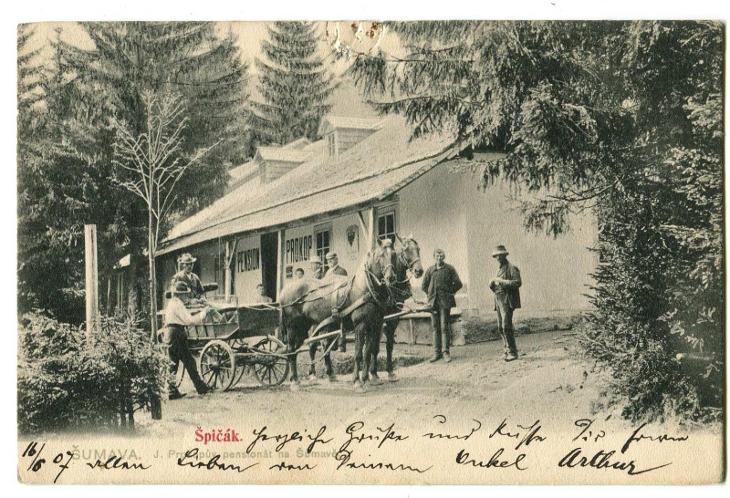 Železná Ruda - Špičák, Šumava, Klatovy Hotel Prokop ( - Pohlednice