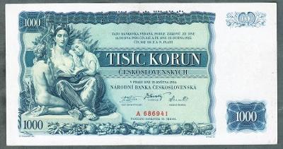 1000 korun 1934 serie A !!! perf. stav 1+
