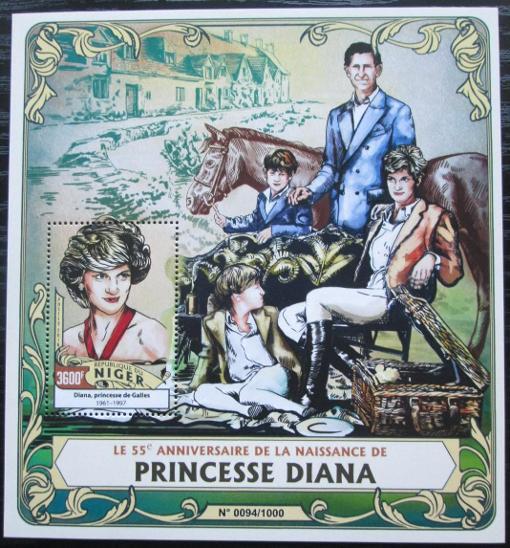 Niger 2016 Princezna Diana Mi# Block 516 Kat 14€ 2521 - Filatelie