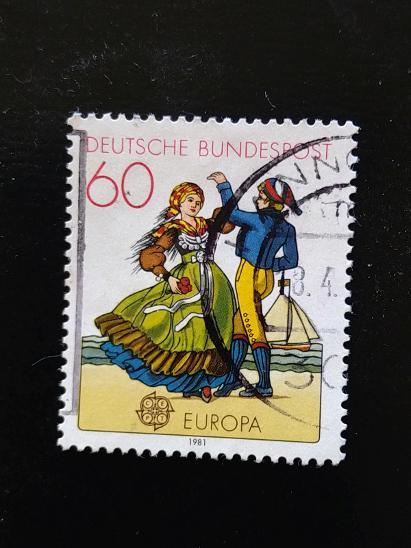 Německo, severoněmecký tanec - Filatelie